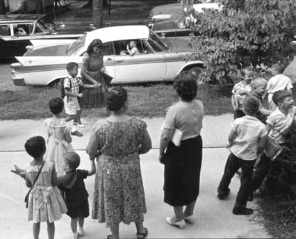 Caption: William Campbell on his first day integrating Raleigh City Schools. , Credit:  NC Museum of History
