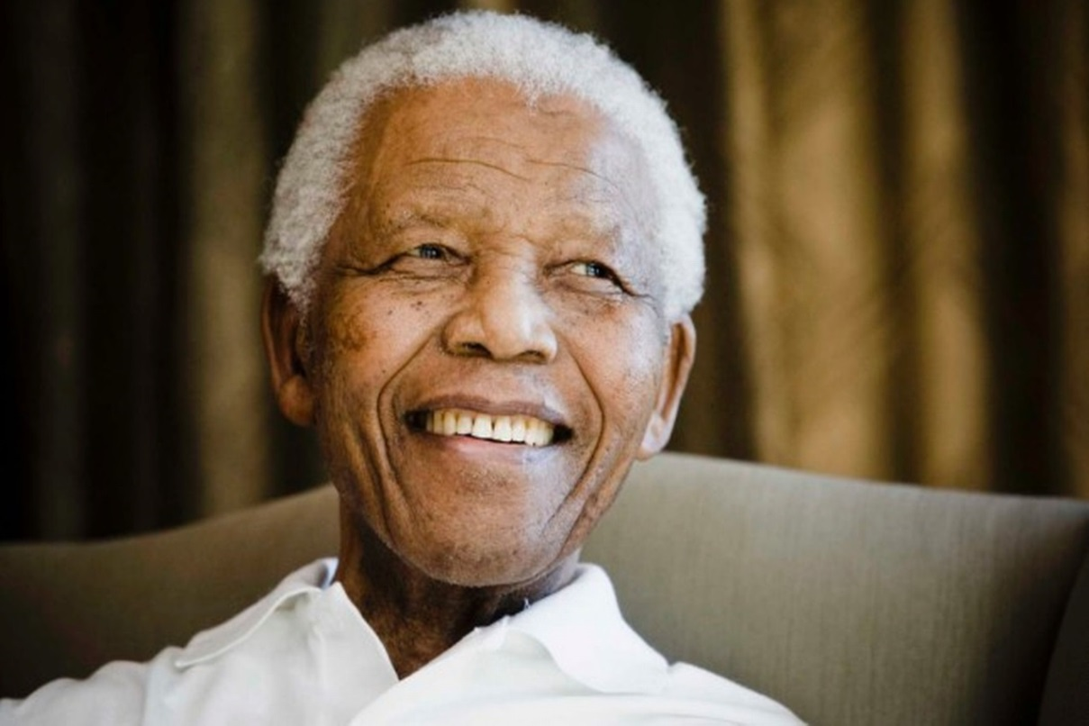 Caption: Nelson Mandela