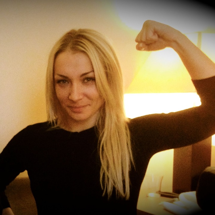Caption: FEMEN leader, Inna Shevchenko