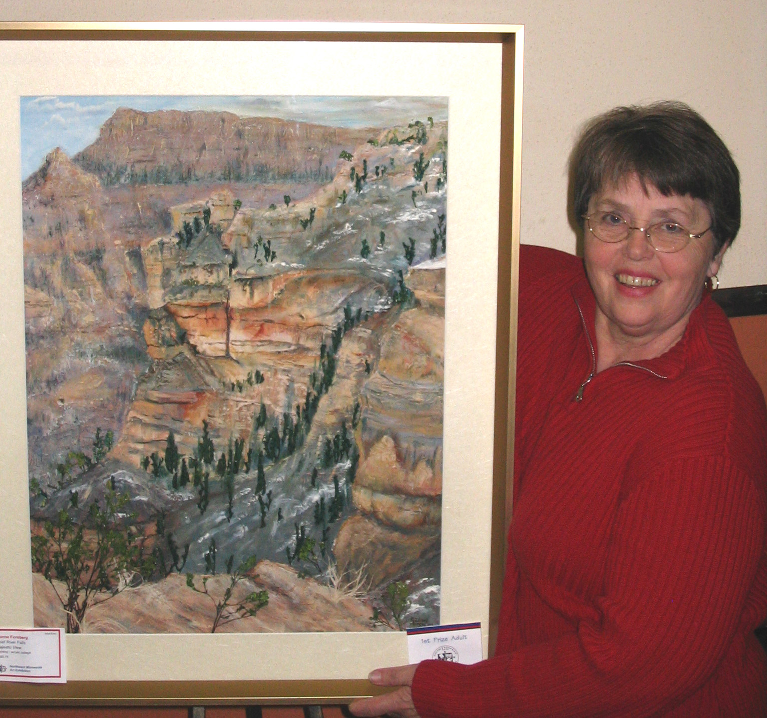 Caption: LaVonne Forsberg of Thief River Falls, Minnesota.