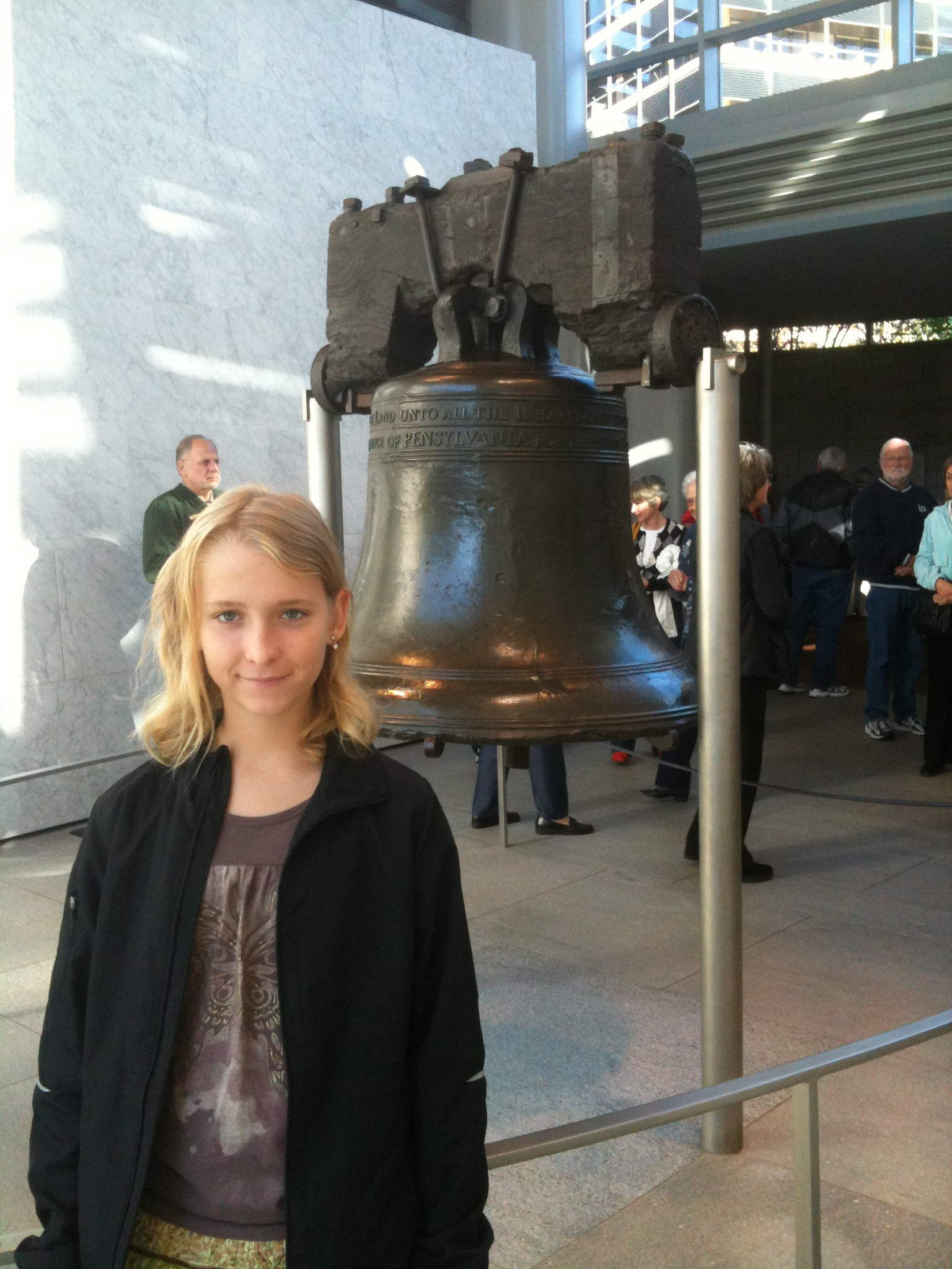 Caption: Hannah Visits the Liberty Bell , Credit: Hannah Providence