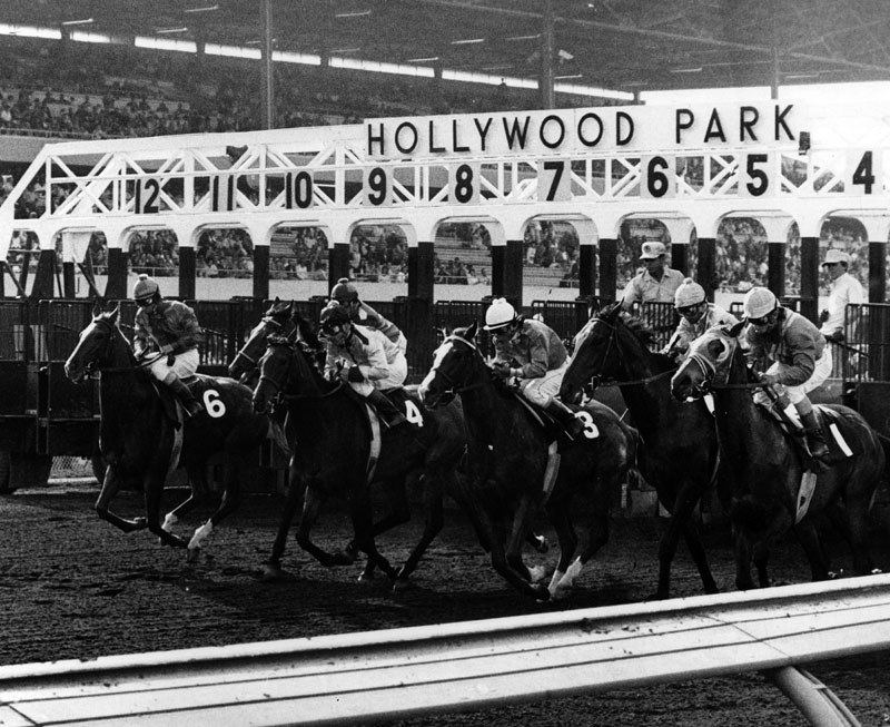 Caption: The Hollywood Park Starting Gate, Credit: Courtesy Los Angeles Public Library