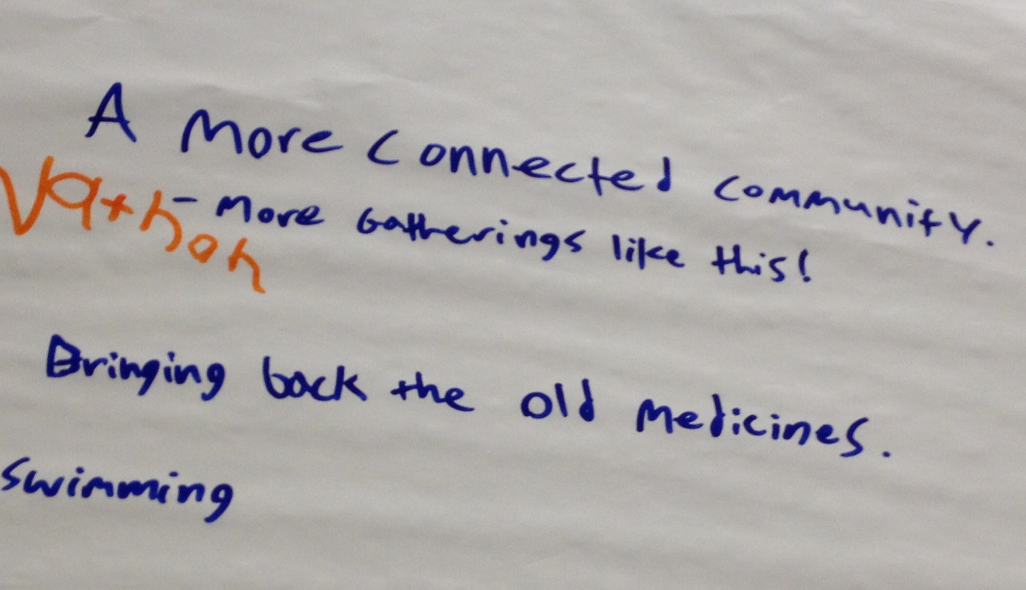 Caption: Notes from the Youth Visioning Health event.