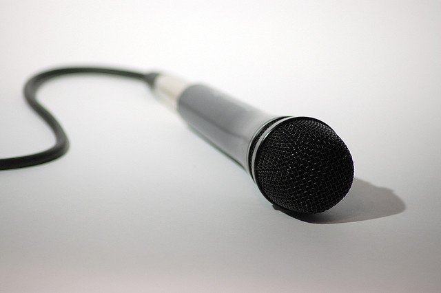 Caption: Microphone, Credit: Grant https://www.flickr.com/photos/visual_dichotomy/