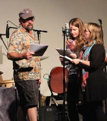 Caption: Brandon Chase, Britt Aamodt, Heidi Holtan