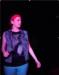 Caption: Carli at Karaoke