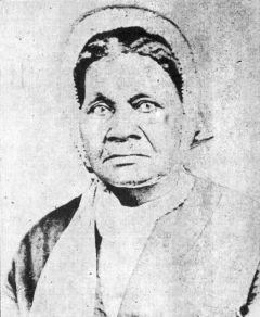 Caption: This image of Priscilla Baltimore is from a 1958 edition of the book: Life and labors of Rev. Jordan W. Early: One of the Pioneers of African Methodism in the West and South, by Sarah Jane Woodson Early, published by A.M.E. historian George A. Singleton., Credit: Courtesy of the Illinois State Archeological Survey