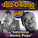 Caption: Louis Armstrong young and old on Jazz-O-Rama!, Credit: Lorie Kellogg