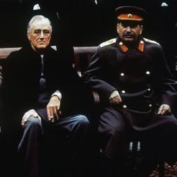 Caption: U.S. President Franklin Roosevelt and Soviet premier Joseph Stalin at the Yalta conference, February 1945.