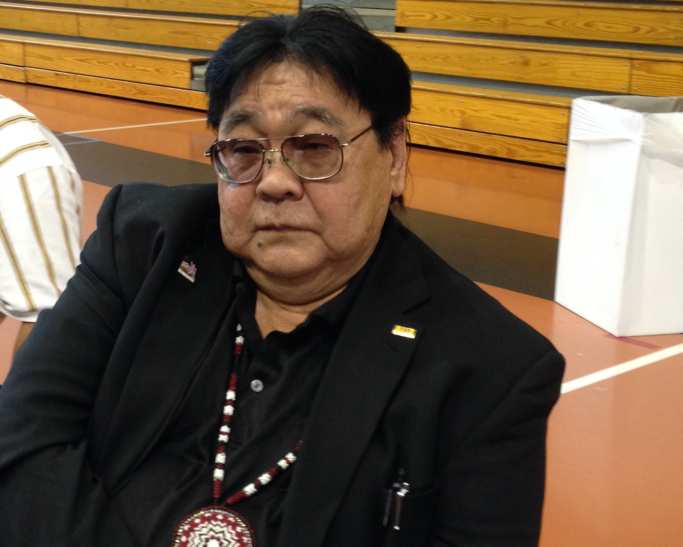 Caption: Red Lake Nation Chairman Darrell Seki recently gave his first State of the Nation address., Credit: Melissa Townsend