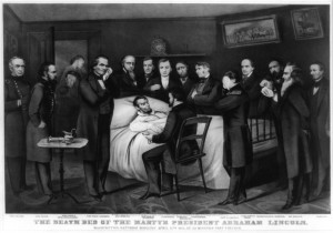 """Caption: """"The death bed of the martyr President Abraham Lincoln"""", Credit: Currier & Ives, Library of Congress"""