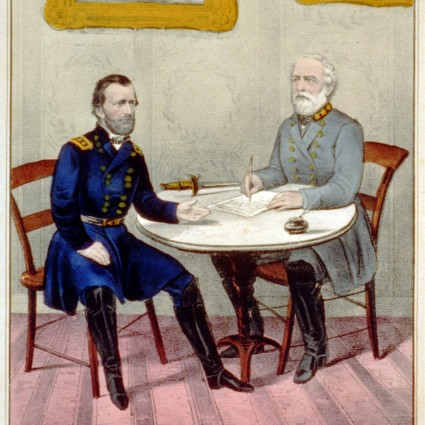 Caption: Surrender of Genl. Lee, at Appomattox C.H. Va. April 9th. 1865, Credit: Currier & Ives, Library of Congress