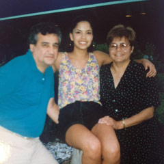 Caption: Frank, Michelle and Lavina Marion