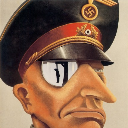 """Caption: """"This is the enemy."""" Depiction of a Nazi officer, 1943, Credit: Library of Congress"""