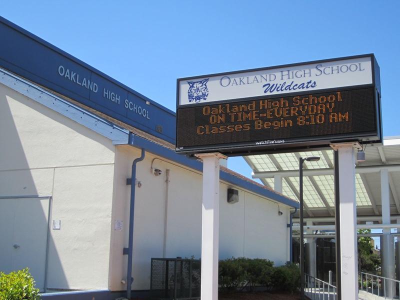 Caption: Oakland High School