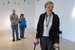 Caption: Marian Pettengill leads Rhett Salisbury and Mary Stores on a low-vision tour at the Indianapolis Museum of Art., Credit: Yaël Ksander