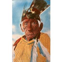 Caption: Wrinkled Meat John Smith in regalia.