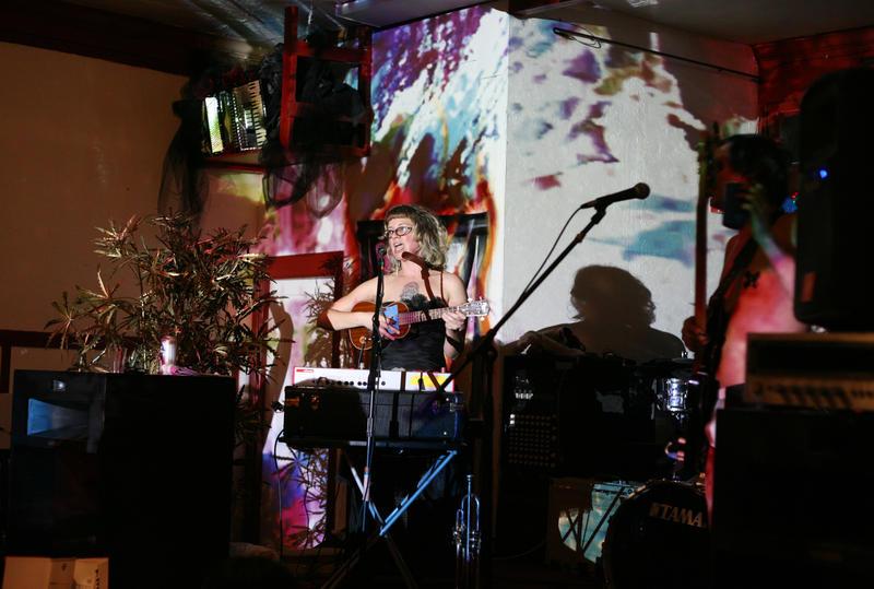 Caption: Maria Yates, performing at a DiY venue., Credit: ANNA VIGNET