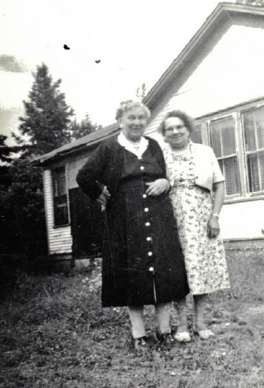 Caption: Mrs. Josephine Zimmerman and Alice LaPlante, at Chippewa City