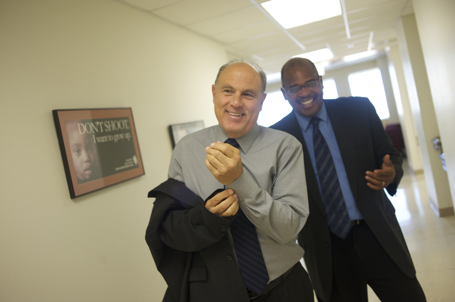 Caption: Dr. Gary Slutkin and Autry Philips, Credit: Bill Healy