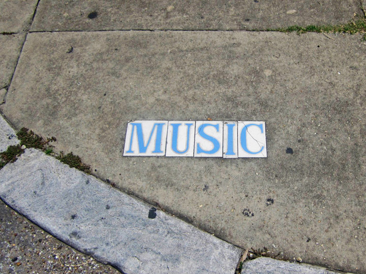 Caption: Music Street in New Orleans