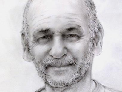 Caption: A portrait of Karim by artist Susan Siris Wexler.