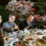 Caption: President Nixon gamely tries out his chopsticks at a banquet given in his honor, 1972., Credit: White House Photo Collection