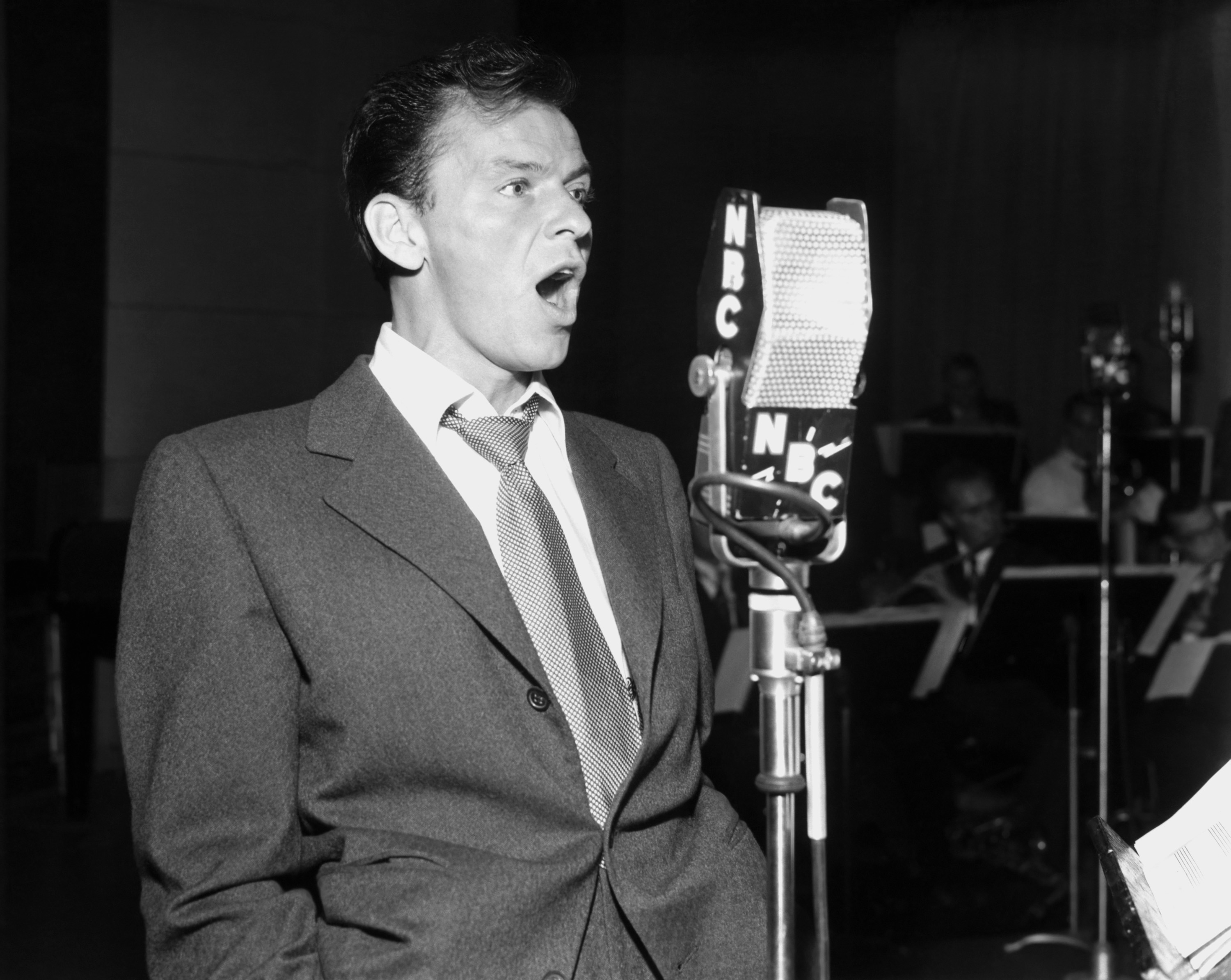 Caption: LIGHT UP TIME -- 1949 -- Pictured: Frank Sinatra, Credit: NBC/Getty