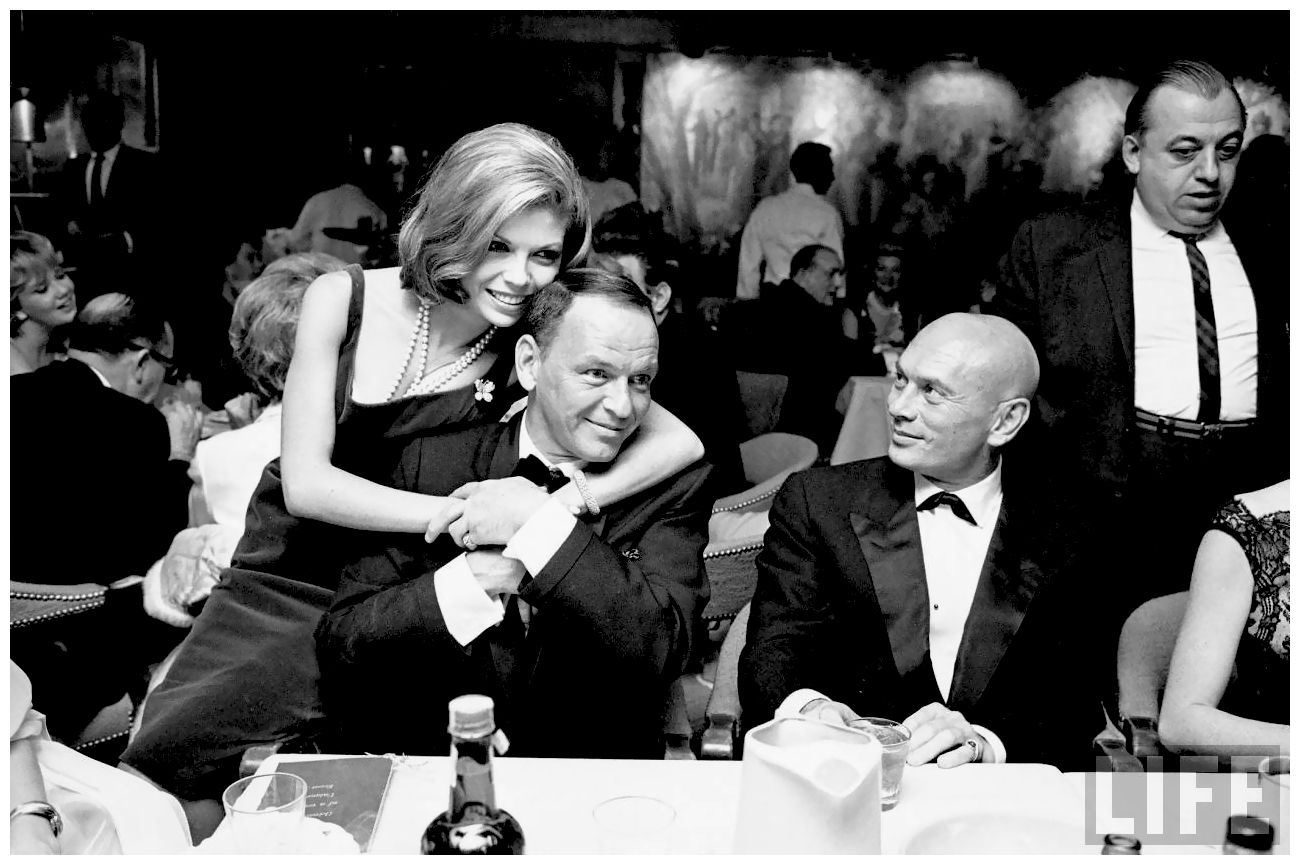 Caption: Nancy Sinatra, Frank Sinatra, and Yul Brynner in 1965., Credit: John Dominis