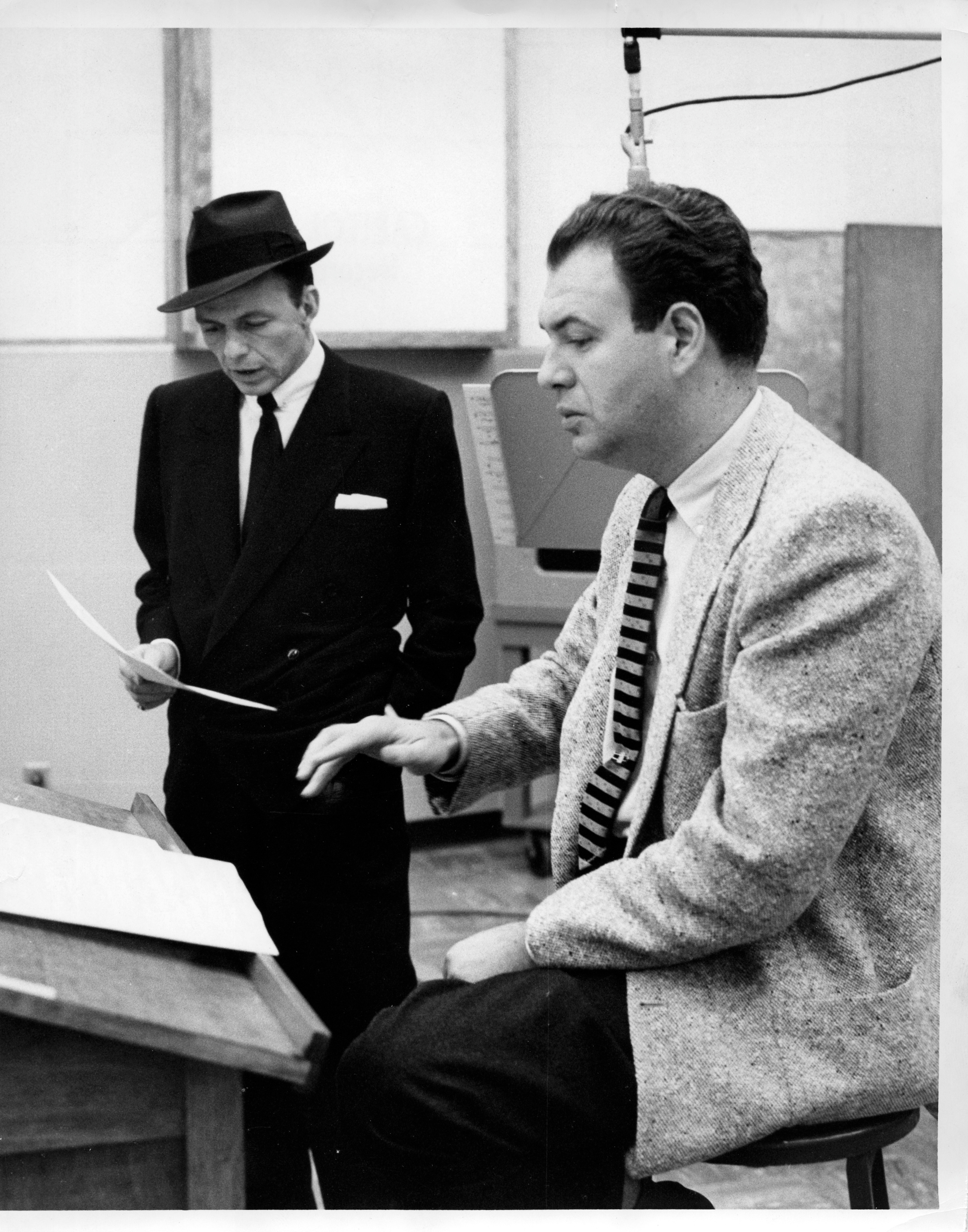 Caption: Sinatra and Riddle, Credit: ABC Photo Archives/Getty