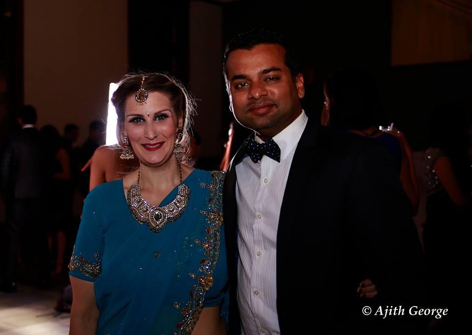Caption: Christy and her husband, Ajit