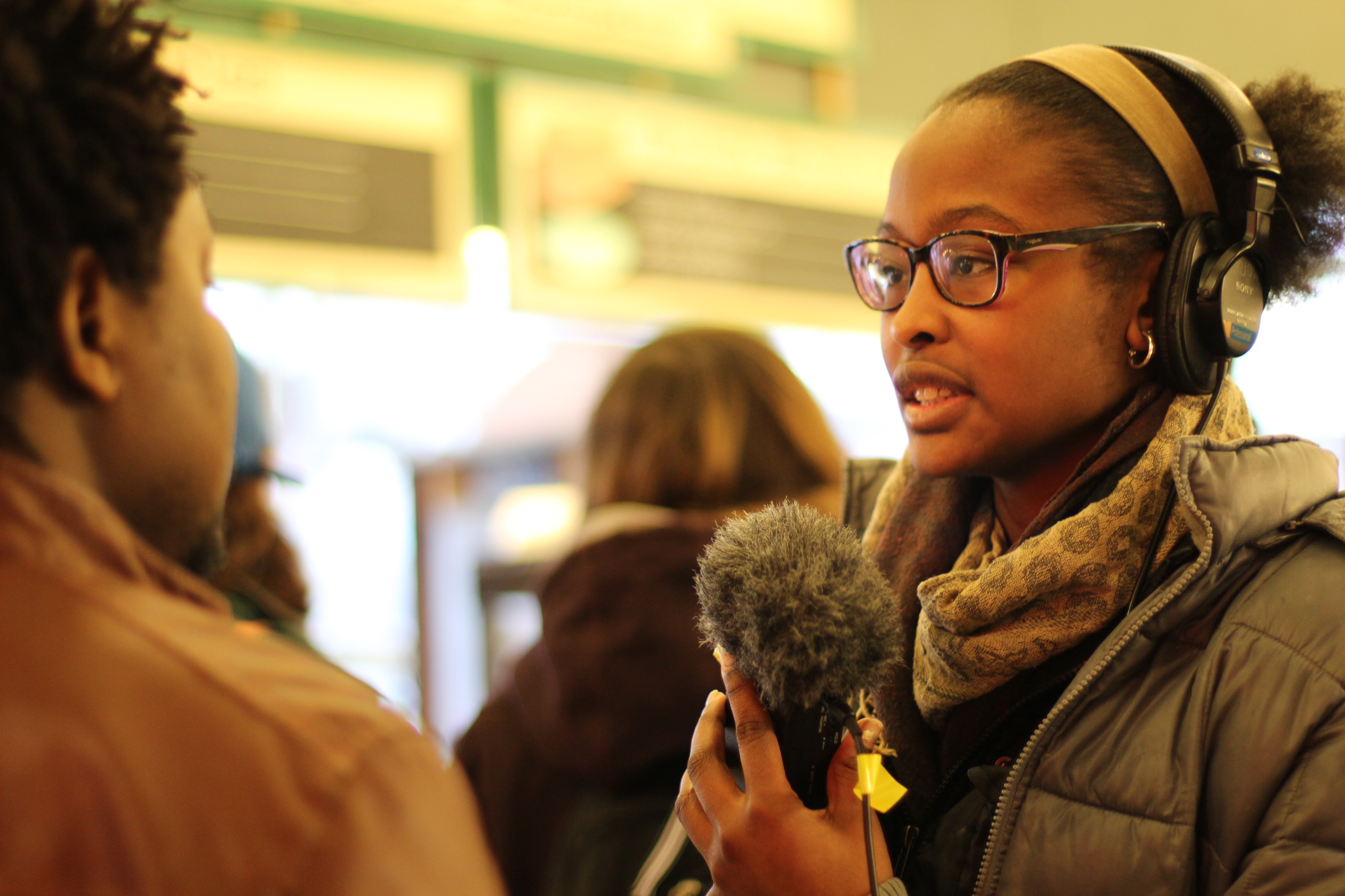 Caption: RadioActive Youth Producer Leija Farr, Credit: KUOW / RadioActive staff
