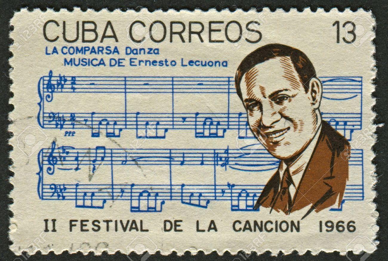 Caption: Ernesto Lecuona postage stamp