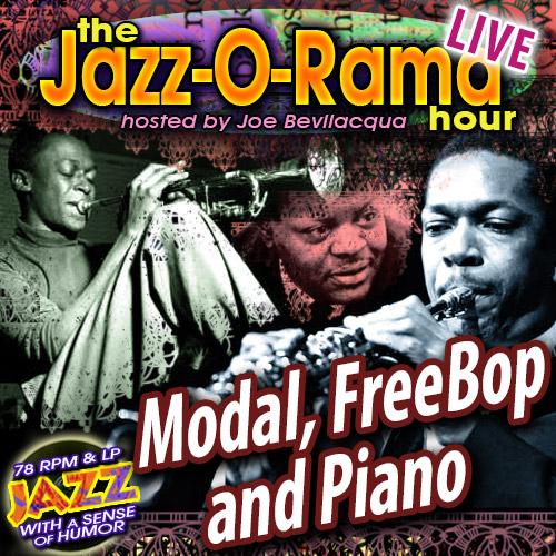 Caption: Modal, Free Bop, Piano Jazz Hour!, Credit: Lorie Kellogg