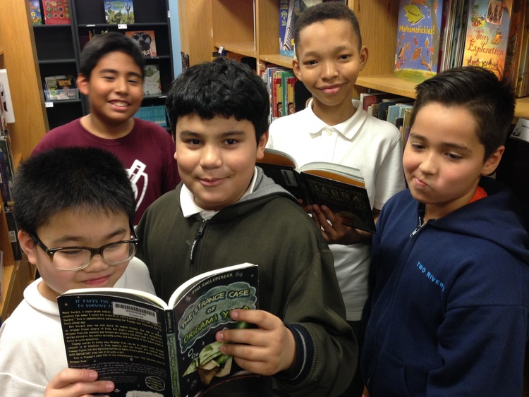 Caption: Kaiden, Francisco, Kevin, Jefferson, and Nicholas are fifth graders at Thomson and Two Rivers Elementary Schools in Washington, DC.