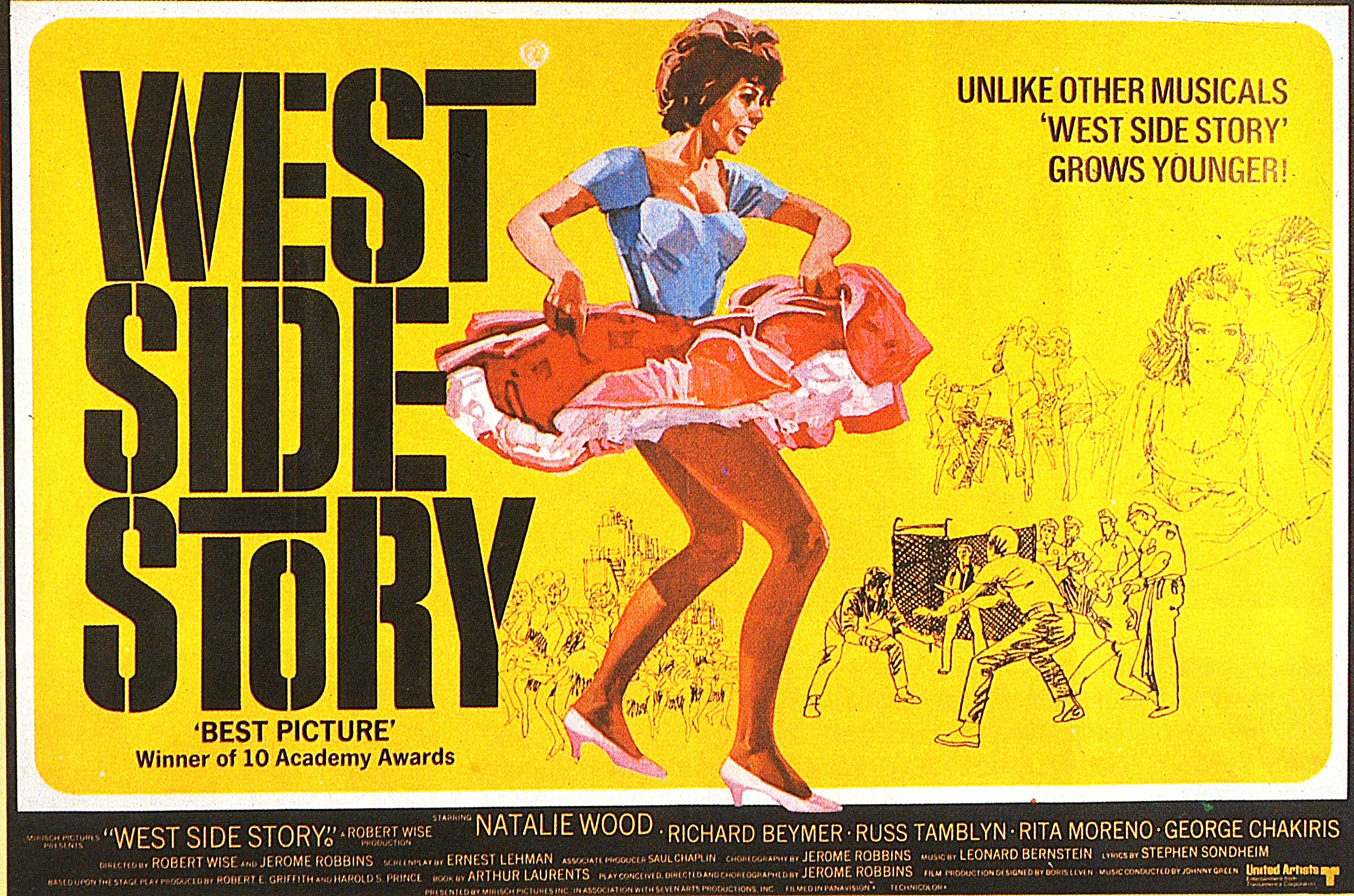 Caption: Poster for West Side Story, Credit: GAB Archive / Getty