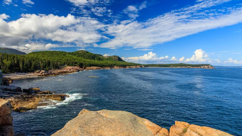 Caption: Rocky Ocean Drive on the Park Loop Road in Acadia National Park, Maine. The Park Loop Road allows visitors to experience Acadia by car. , Credit:  Kristi Rugg / National Park Service