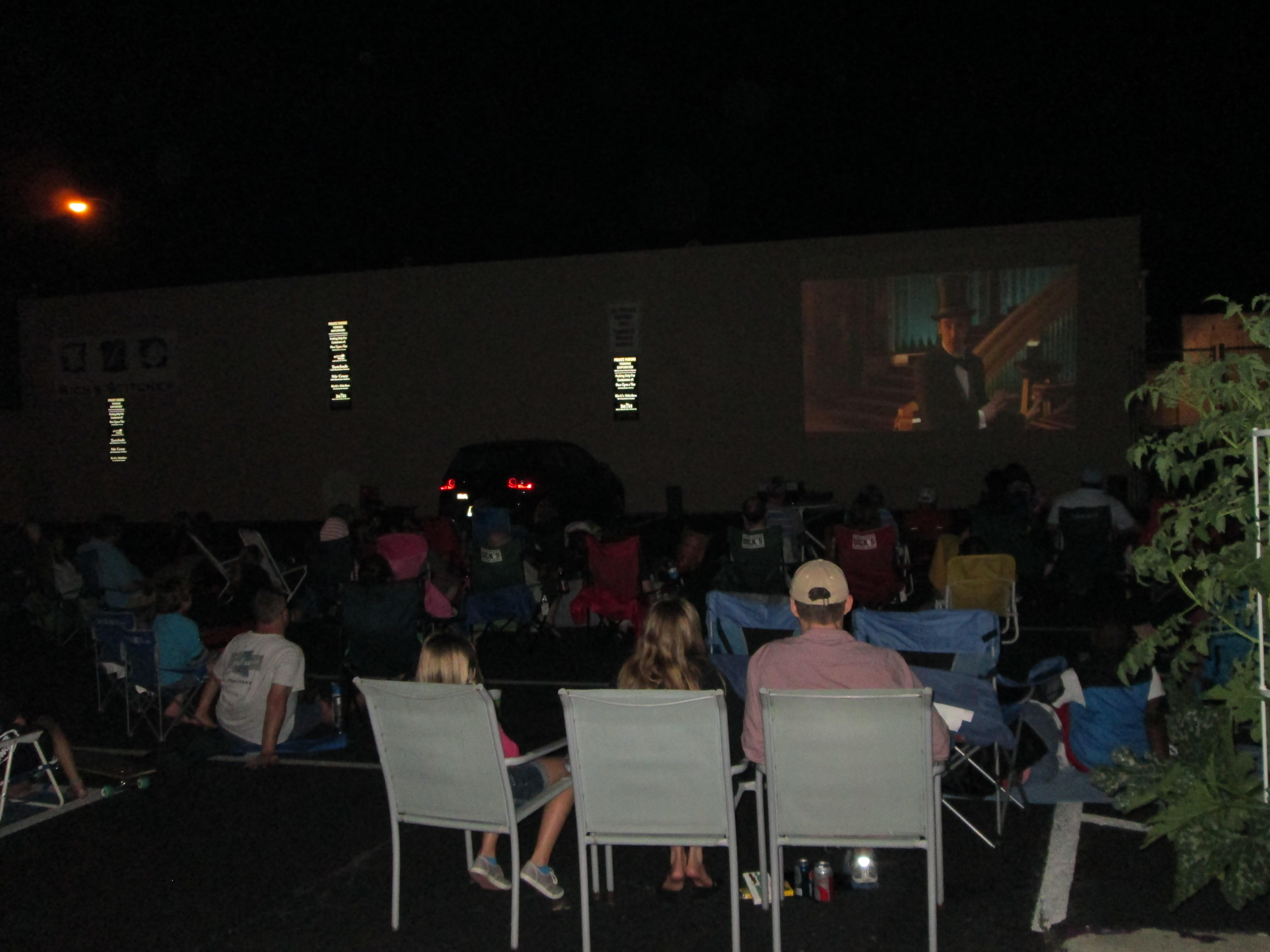 Caption: Movie Nights at Once Upon A Vine, Credit: Charles McGuigan