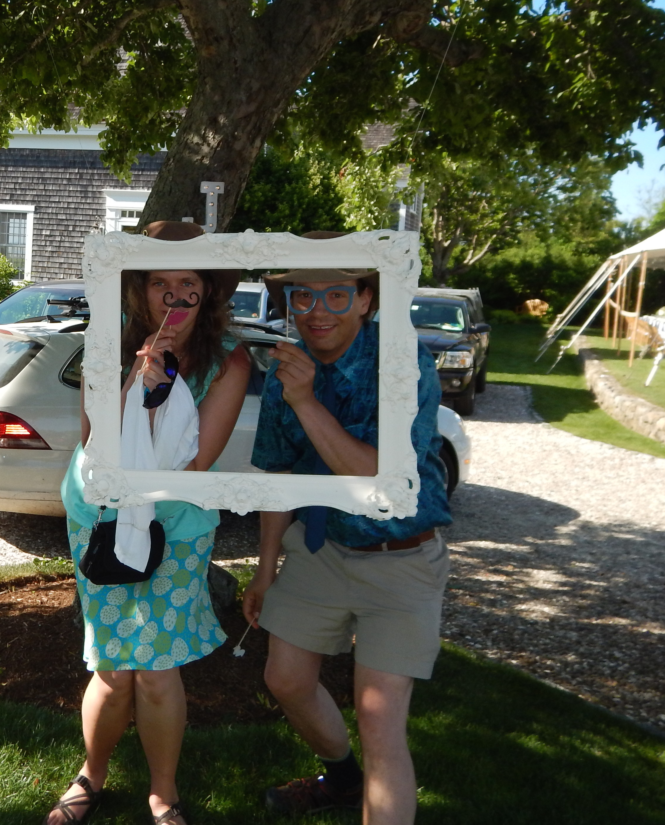 Caption: At a wedding collecting ideas for our wedding....Cape Cod June 2015