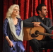 Caption: Duet partners Judy Collins and Ari Hest on the WoodSongs Stage.