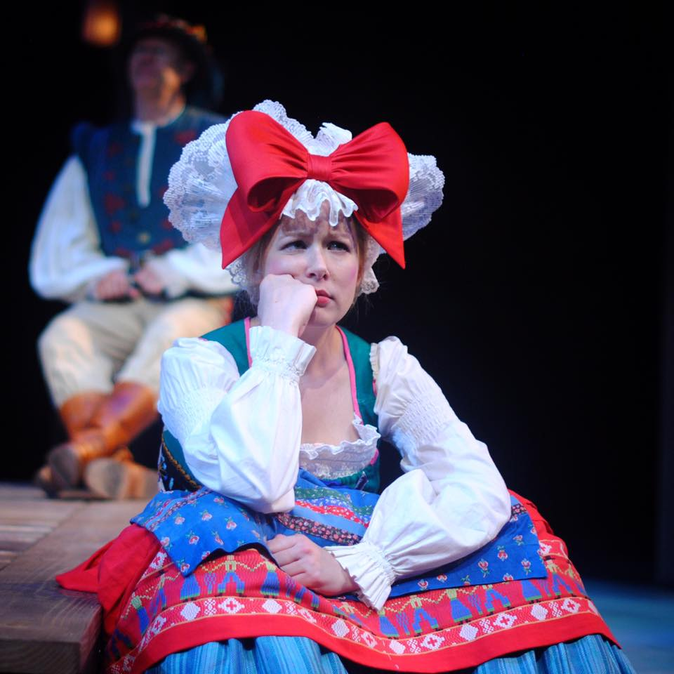Caption: Say hello to Audrey, a goatherd. Played by Stephanie Lambourn., Credit:  Benjamin Boucvalt