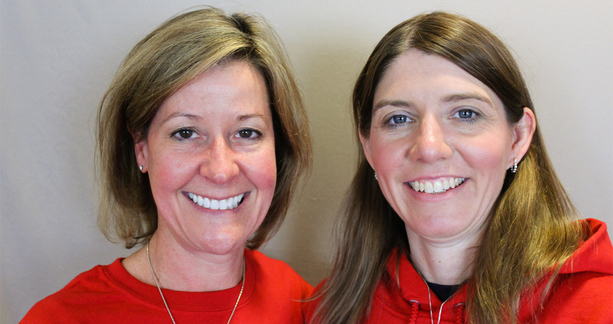 Caption: Jenna Henderson (right) and Laurie Laychak (left)