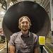 Caption: Jason Davis at business end of the SLS RS-25 rocket motor., Credit: Casey Dreier