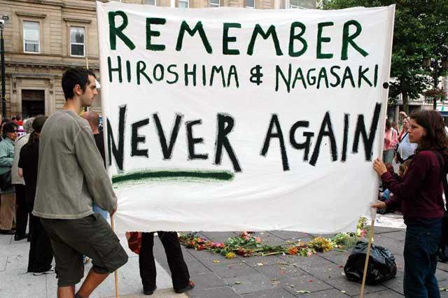 Caption: 8/9 Nagasaki Day Protest at Livermore Labs, Credit: photo by The Resource Center for Nonviolence rcnv.org via Twitter @RNCV1