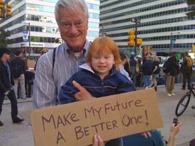 Caption: George Lakey at Occupy Philly