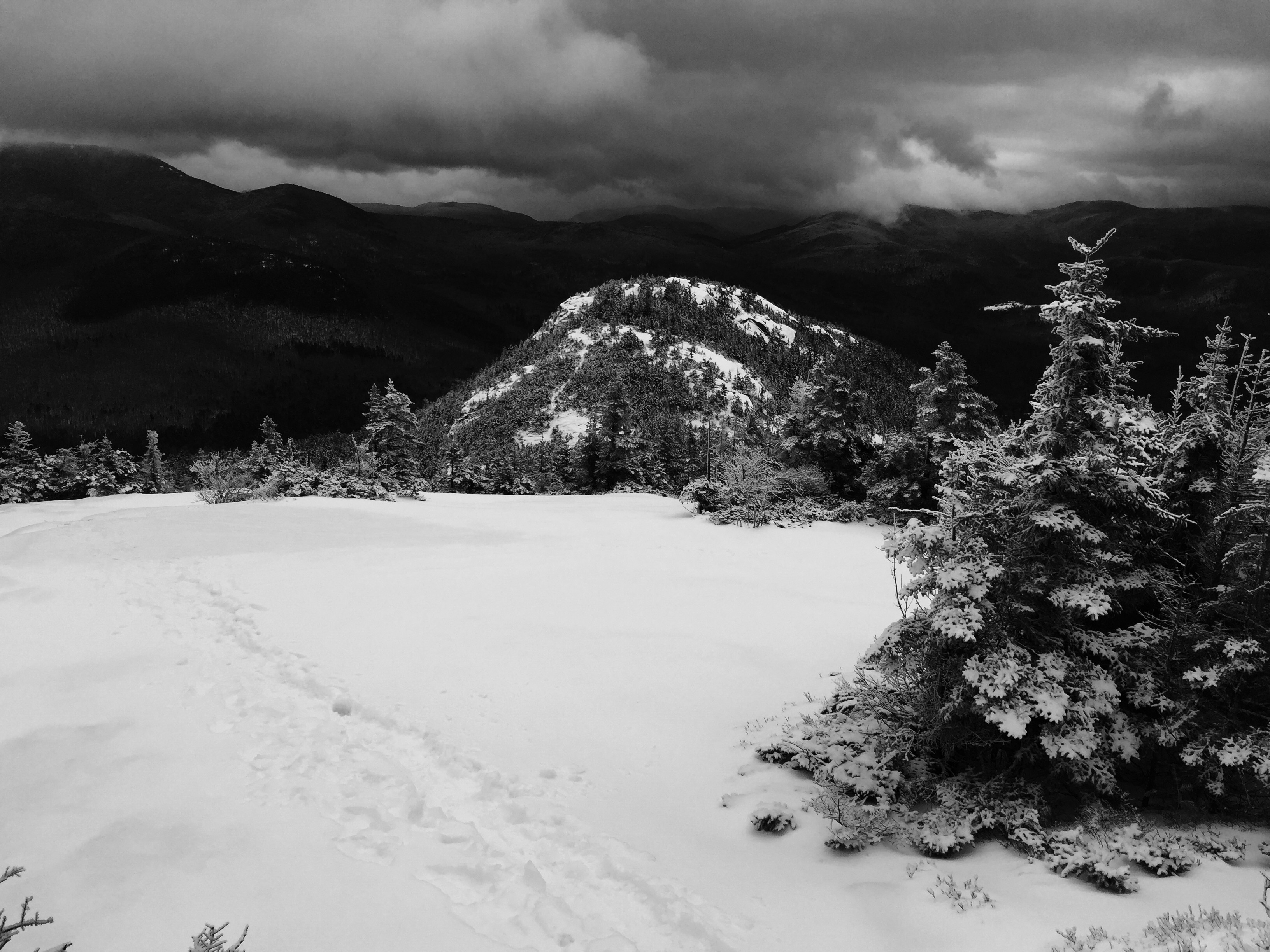 Caption: View of Welch Mountain from Dickey Mountain in Thornton, NH. , Credit: Sean Hurley