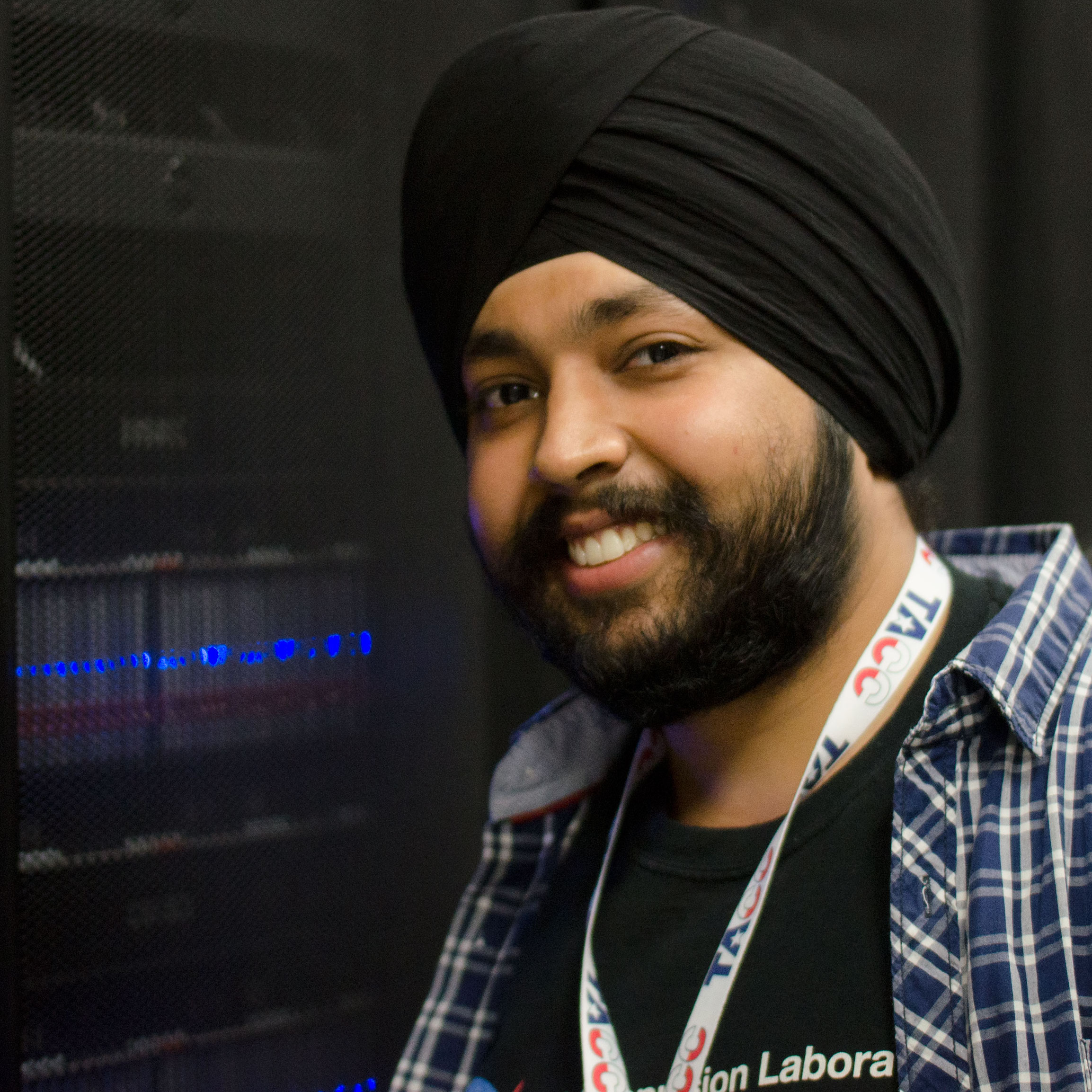 Caption: Supercomputers are being used to help fight human trafficking. Computer scientist Karanjeet Singh (USC)., Credit: TACC