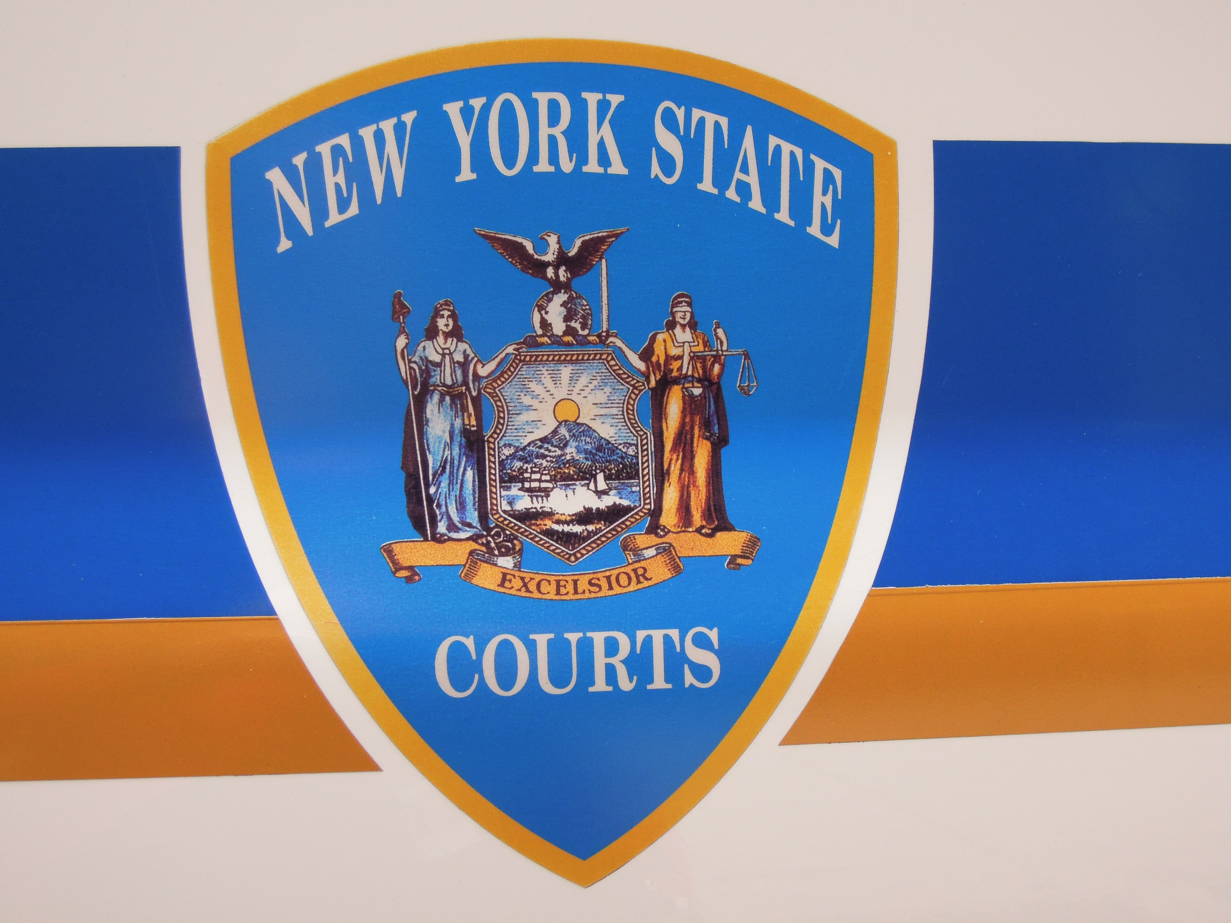 Caption: seal of the NYS Courts, Credit: Richard Solomon