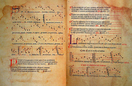 Caption: Pages from El Llibre Vermell de Montserrat
