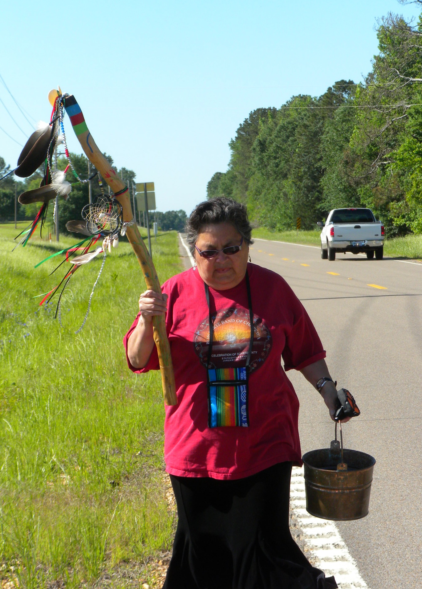 Caption: Sharon Day is traveling to the Native Nations March on Washington with a group of young women from Minneapolis. , Credit: http://www.prx.org/pieces/92997-ojibwe-elder-sharon-day-and-the-mother-earth-water